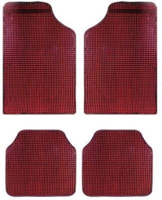 Vheelocityin Rubber Car Mat For Nissan X-Trail(Red)