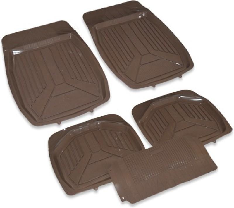 Auto Hub PVC Car Mat For Honda Brio(Brown)