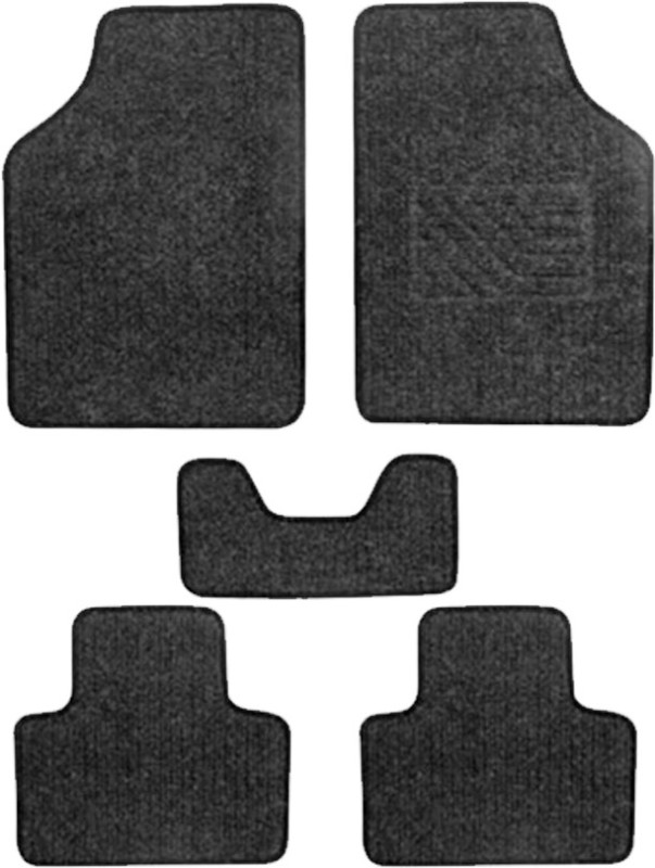 AutoKraftZ Fabric Car Mat For Ford Classic(Black)