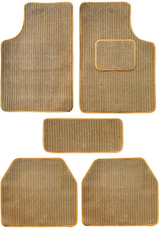 AutoKraftZ Fabric Car Mat For Volkswagen Jetta(Beige)