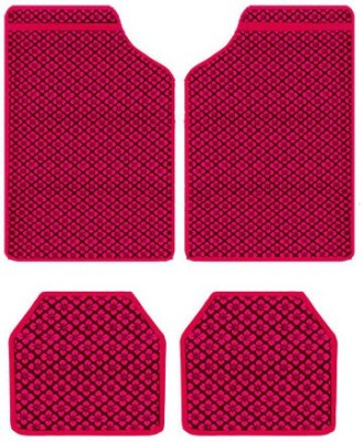 Vheelocityin Rubber Car Mat For Hyundai Elantra(Red)