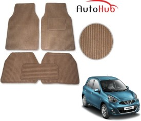 Auto Hub Fabric Car Mat For Nissan Micra(Beige)