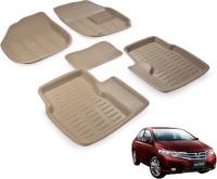 Auto Hub Plastic 3D Mat For  Honda City(Beige)