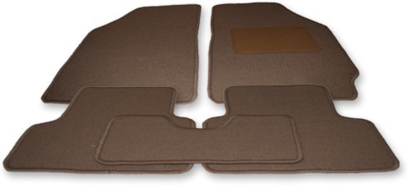 Auto Hub Fabric Car Mat For Honda Amaze(Brown)