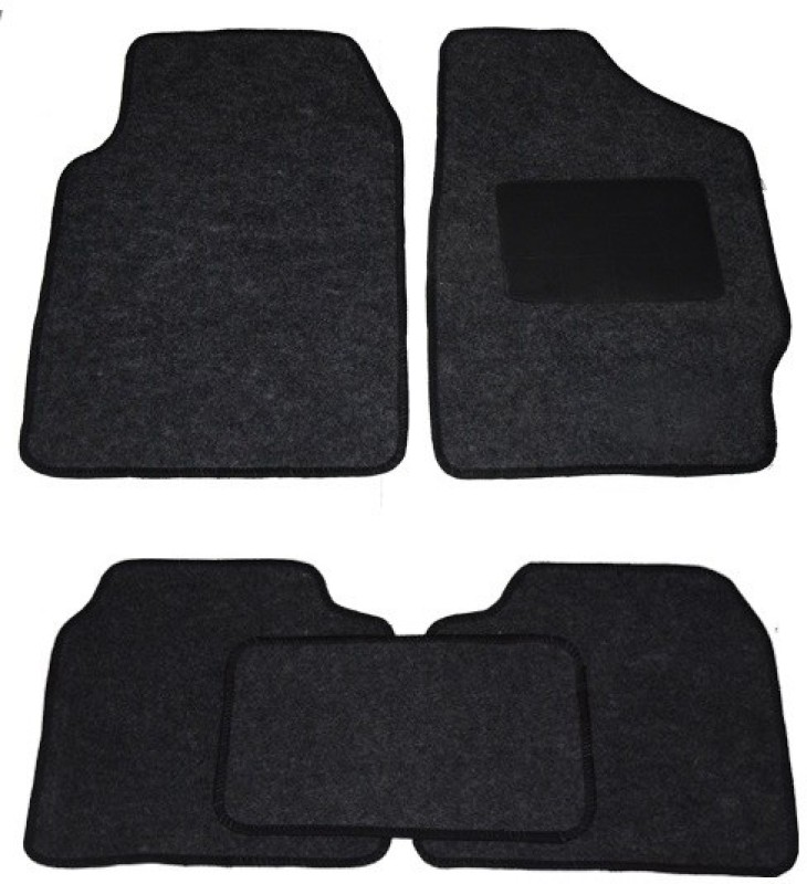 Auto Hub Fabric Car Mat For Tata Zest(Grey)