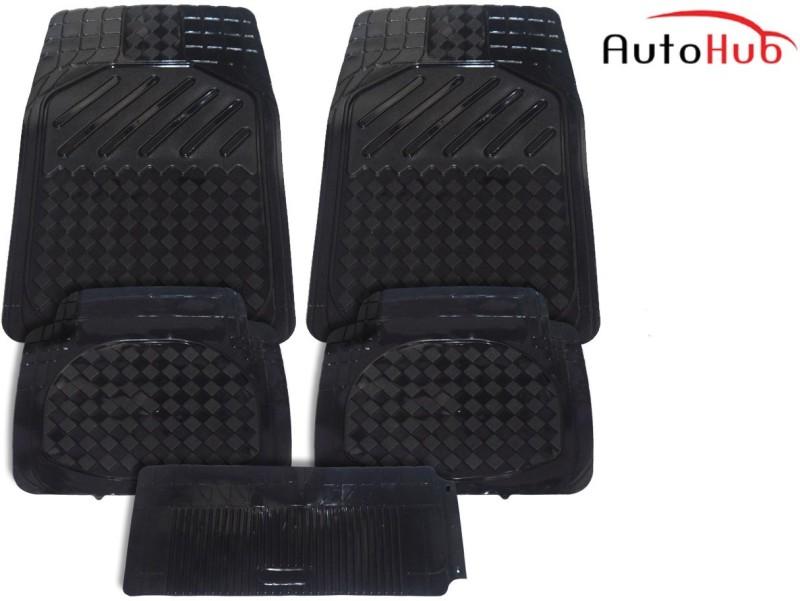 Auto Hub PVC, Rubber Car Mat For Tata Nano(Black)