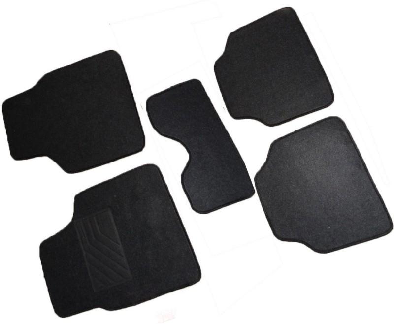 Primecare Fabric Car Mat For Chevrolet Aveo(Black)