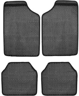 Vheelocityin Rubber Car Mat For Chevrolet Beat(Grey)
