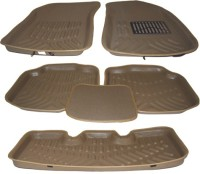 Auto Hub Plastic Standard Mat For  Toyota Innova(Beige)