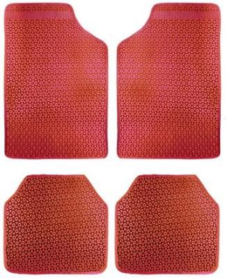 Vheelocityin Rubber Car Mat For Ford Ikon(Red)
