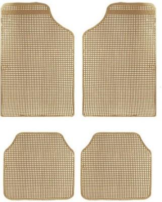 Vheelocityin Rubber Car Mat For Toyota Etios Liva(Beige)
