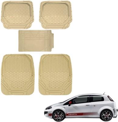 Kozdiko Rubber, PVC Car Mat For Fiat 500 Abarth(Beige)
