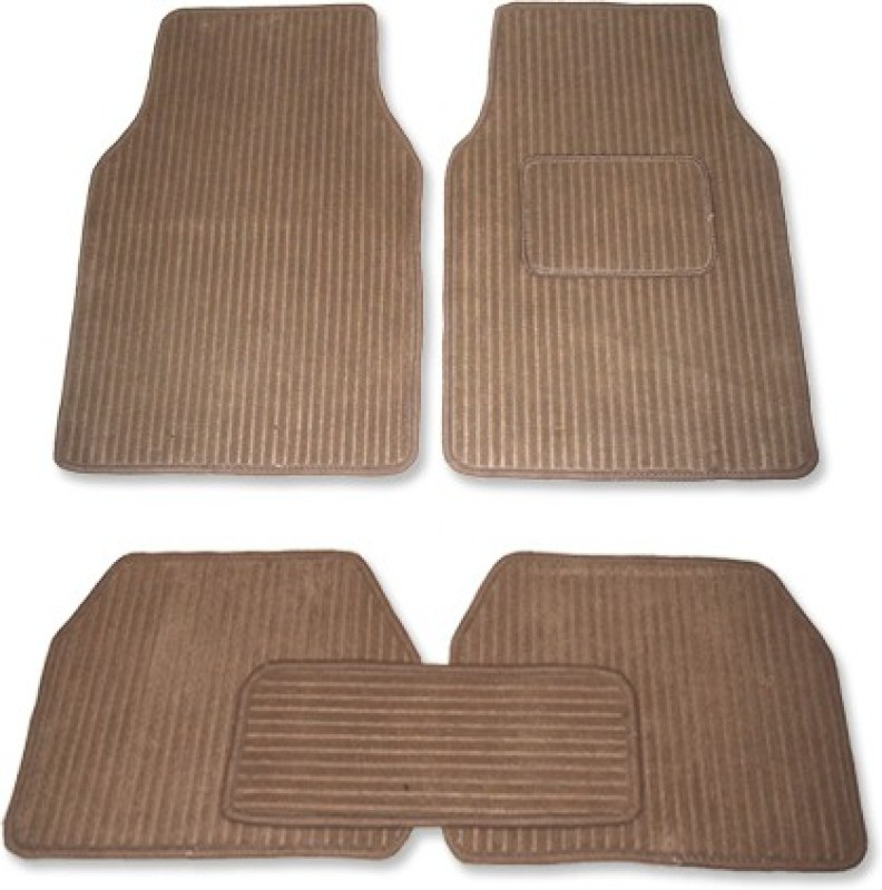 Auto Hub Fabric Car Mat For Hyundai Xcent(Beige)