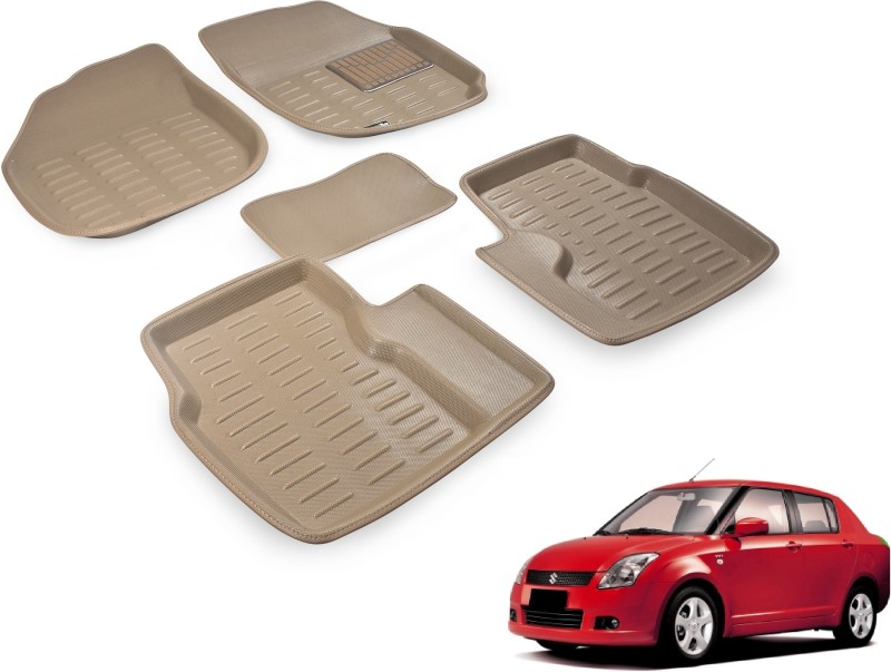 Auto Hub Plastic Car Mat For Maruti Suzuki Swift Dzire(Beige)