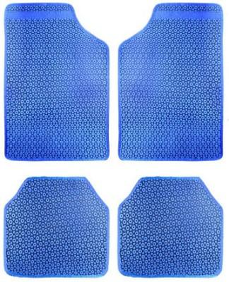 Vheelocityin Rubber Car Mat For Mahindra Quanto(Blue)