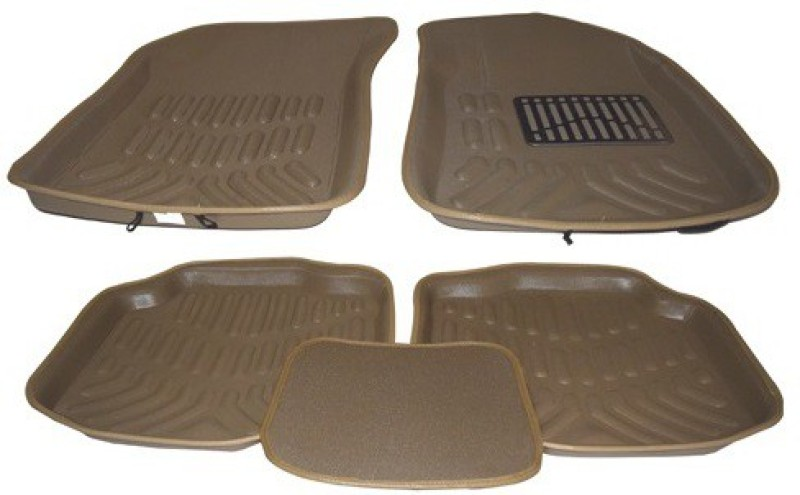 Auto Hub Plastic Car Mat For Hyundai Grand i10(Beige)