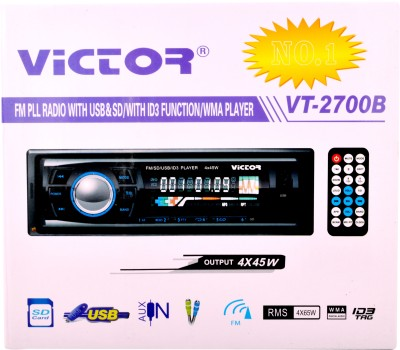 Victor VT-2700B CAR STEREO FM RADIO MP3 WITH USB/ SD CARD / ID3 FUNCTION WMA PLAYER WITH REMOTE Car Stereo