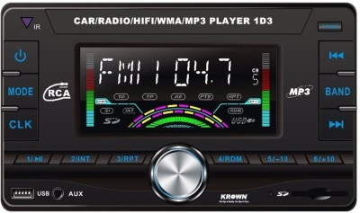 Krown Classic Double Din Multimedia USB Player with Fer & Aux Car Stereo(Double Din)