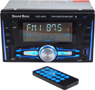 Sound Boss CRZ-4000 Bluetooth Wireless With Phone Caller Id Receiver Car Stereo