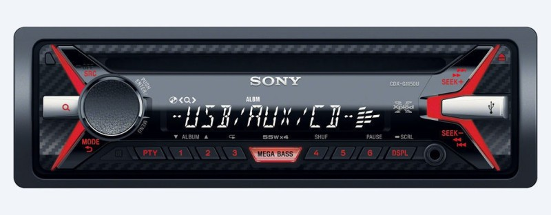 Sony Xplod CDX-G1150U Car Stereo(Single Din)