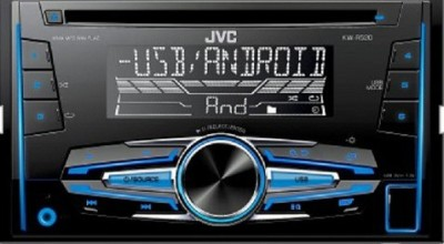 JVC KW-R520 Double Din CD/USB Car Stereo