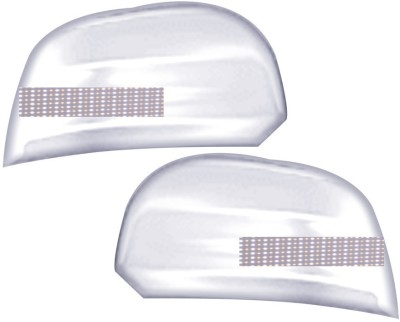 Auto Pearl Premium Quality Chrome Plated Blinking Mirror Cover For-Mahindra KUV 100 Plastic Car Mirror Cover