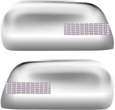 Auto Pearl Premium Quality Chrome Plated Blinking Mirror Cover For-Mahindra Xylo Plastic Car Mirror Cover