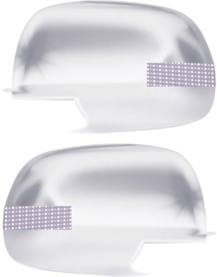 Auto Pearl Premium Quality Chrome Plated Blinking Mirror Cover For-Nissan Micra Plastic Car Mirror Cover