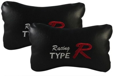 Type R Black Leatherite Car Pillow Cushion for Universal For Car