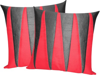 Zikrak Exim Black, Red Polyester Car Pillow Cushion for Universal For Car