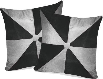Zikrak Exim Black, Silver Polyester Car Pillow Cushion for Universal For Car