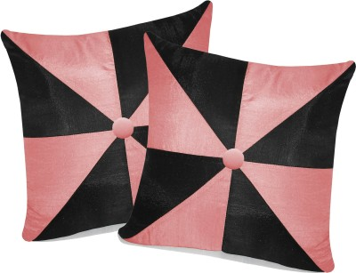 Zikrak Exim Pink, Black Polyester Car Pillow Cushion for Universal For Car