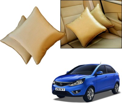 Auto Pearl Beige Leatherite Car Pillow Cushion for Tata