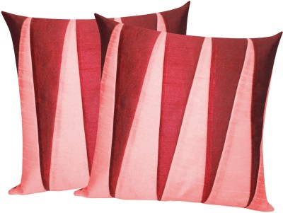 Zikrak Exim Maroon, Pink Polyester Car Pillow Cushion for Universal For Car