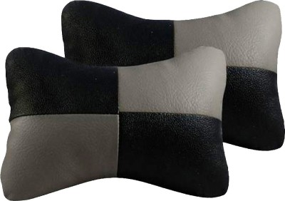 AutoKraftZ Black, Grey Leatherite Car Pillow Cushion for Maruti Suzuki