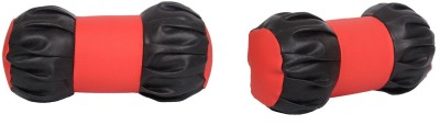 Digitru Black, Red Leatherite Car Pillow Cushion for Universal For Car