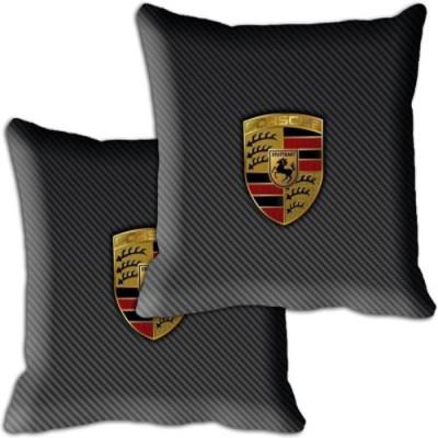 Shopnow Black Silk Car Pillow Cushion for Porsche