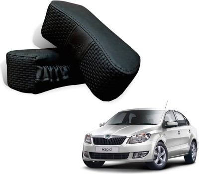 Kozdiko Black Fabric Car Pillow Cushion for Skoda