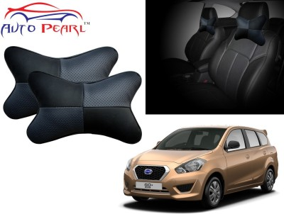 Auto Pearl Black, Grey Leatherite Car Pillow Cushion for Datsun