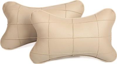 Pegasus Premium Beige, Beige Leatherite Car Pillow Cushion for Universal For Car