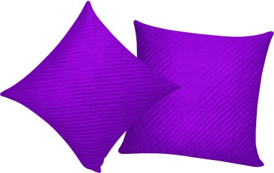 Zikrak Exim Purple Polyester Car Pillow Cushion for Universal For Car