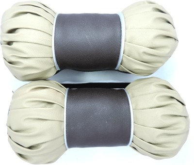 AutoSun Beige Leather Car Pillow Cushion for Universal For Car