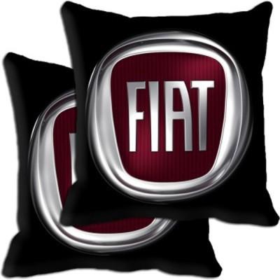 Shopnow Black Silk Car Pillow Cushion for Fiat
