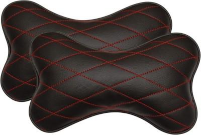 Car Fashion Black Leatherite Car Pillow Cushion for Universal For Car