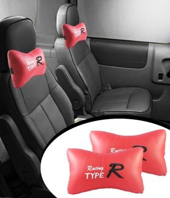 AutoKraftZ Red Leatherite Car Pillow Cushion for Maruti Suzuki