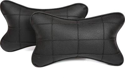 Pegasus Premium Black, Black Leatherite Car Pillow Cushion for Universal For Car
