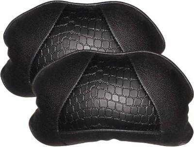 Kozdiko Black Leatherite Car Pillow Cushion for Universal For Car