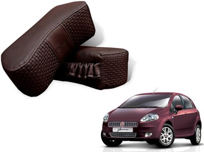 Auto Pearl Brown Leatherite Car Pillow Cushion for Fiat