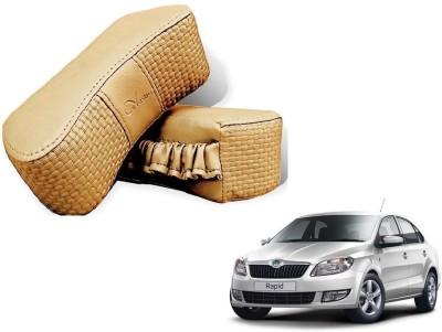 Kozdiko Beige Sponge Car Pillow Cushion for Skoda