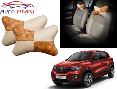 Auto Pearl Beige, Brown Leatherite Car Pillow Cushion for Renault